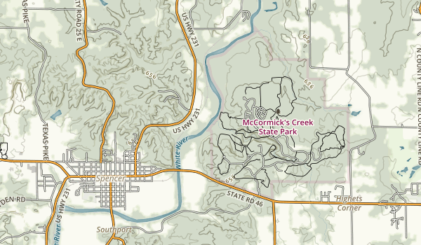 McCormick's Creek Map