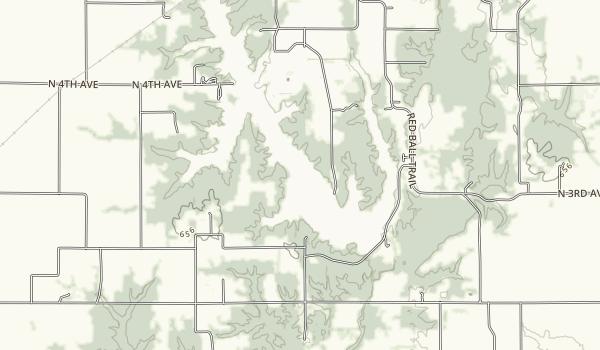 Coffeen Lake Map