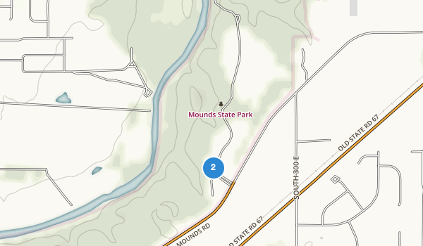 trail locations for Mounds State Park