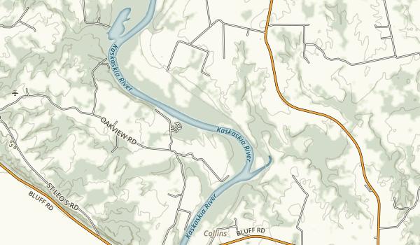 Kaskaskia Rive Map