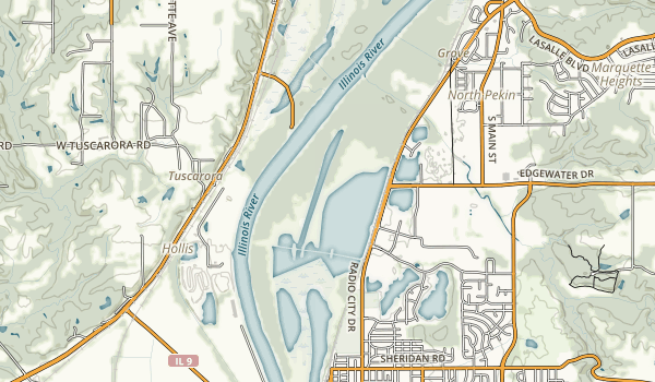 Pekin Lake Map