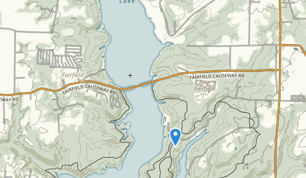 trail locations for Brookville Lake