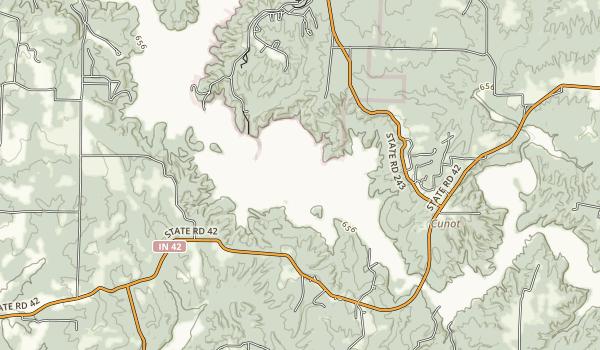 Cagles Mill Lake (Lieber SRA) Map