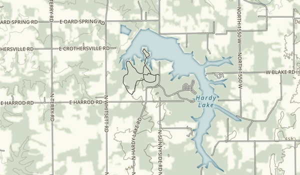 Hardy Lake Map
