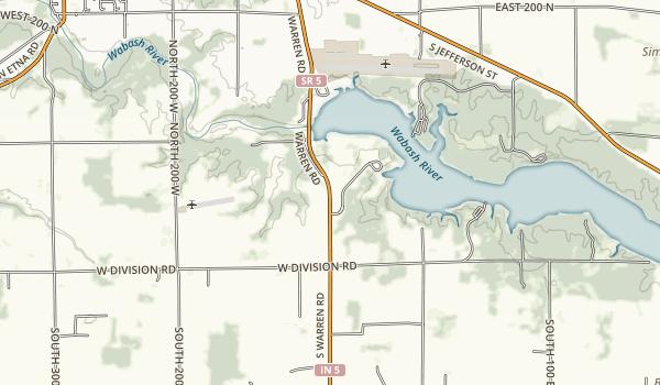 J. Edward Roush Lake (Huntington Lake) Map
