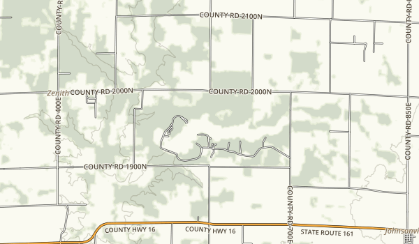 Sam Dale Lake State Fish and Wildlife Area Map