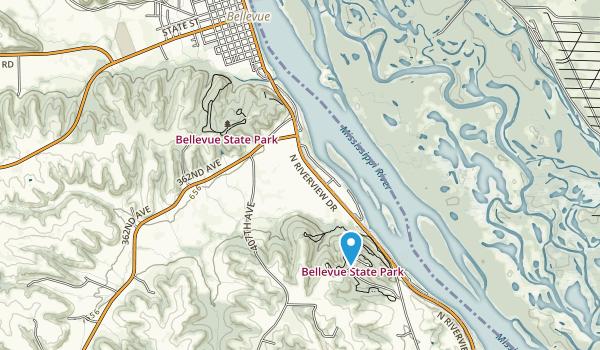 Bellevue State Park Map