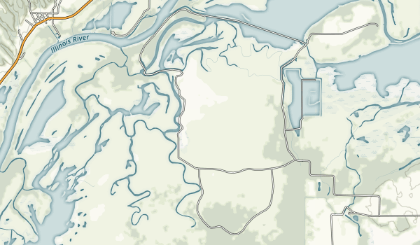 Sanganois State Fish and Wildlife Area Map