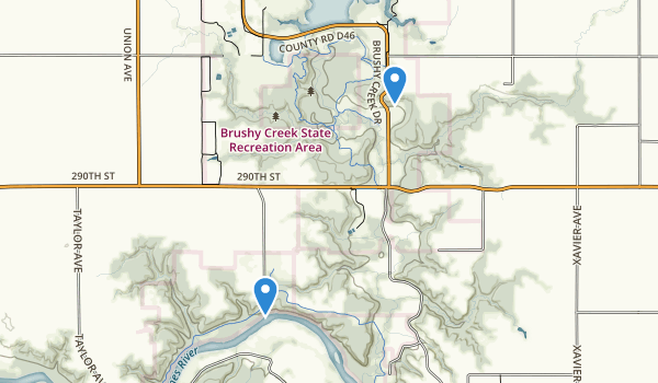 Brushy Creek State Recreation Area Map
