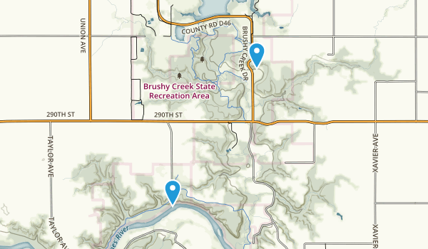 Brushy Creek State Recreation Area Map