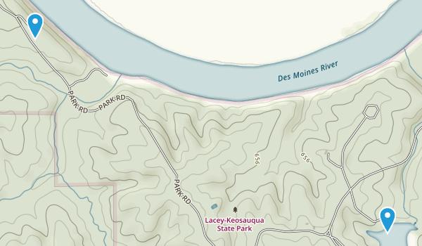 Lacey Keosauqua State Park Map