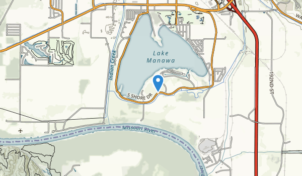 trail locations for Lake Manawa State Park