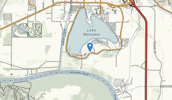 Lake Manawa State Park Map
