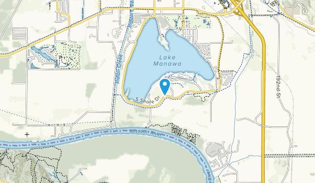 Parque Estatal Lake Manawa Map
