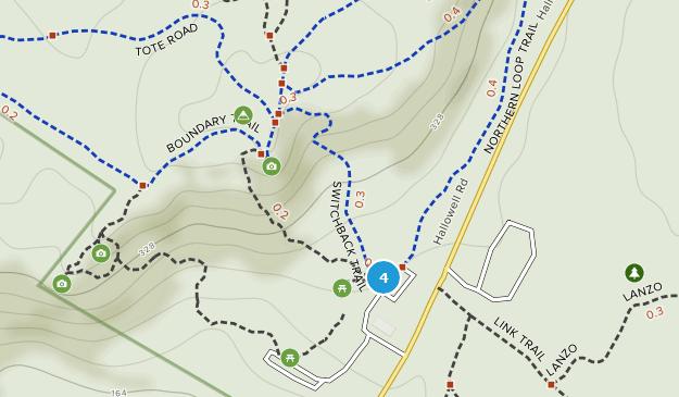 Parque Estatal Bradbury Mountain Map