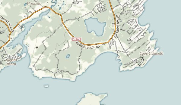 Crescent Beach State Park Map