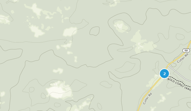 Cutler Coast Public Reserved Land Map