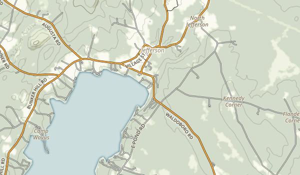 Damariscotta Lake State Park Map