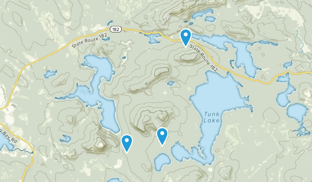 Donnell Pond Public Reserved Land Map