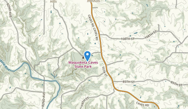 trail locations for Maquoketa Caves State Park