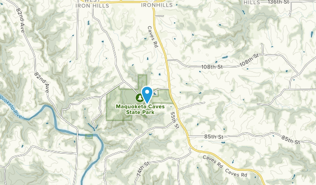 Maquoketa Caves State Park Map