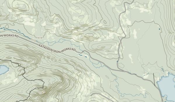 Katahdin Iron Works Map