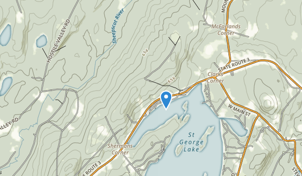 Lake St. George State Park Map