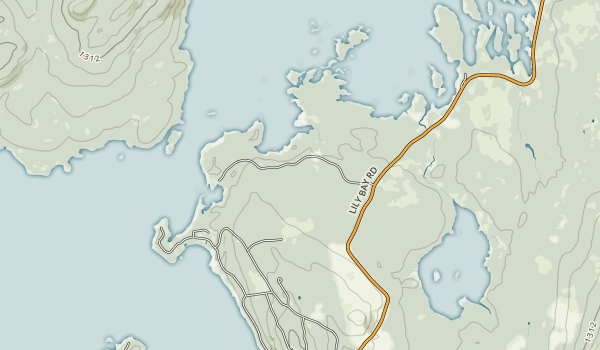 Lily Bay State Park Map