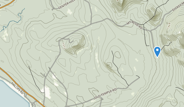 trail locations for Mt. Blue State Park