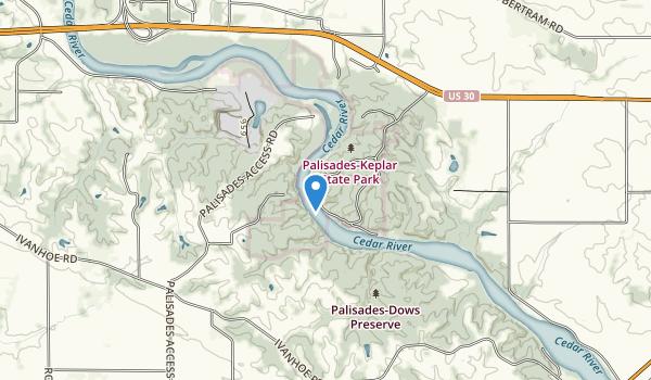 Palisades-Kepler State Park Map