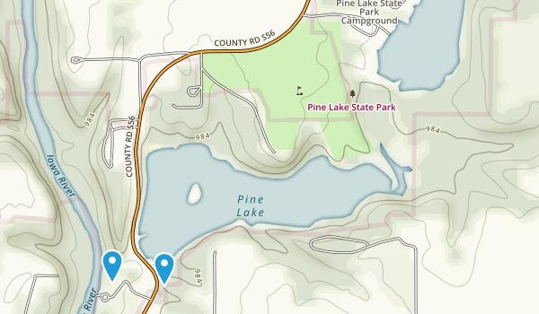 Pine Lake State Park Map