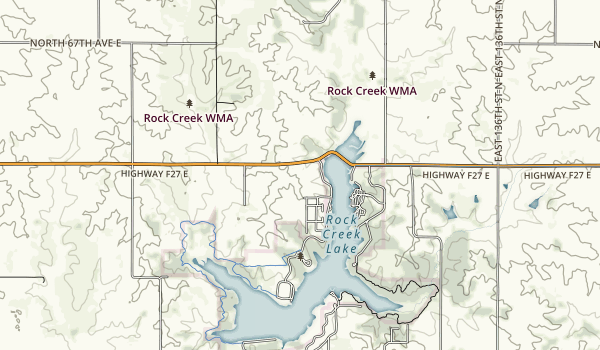 Rock Creek State Park Map