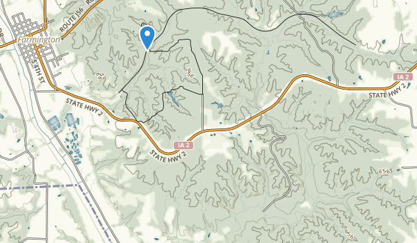 Shimek State Forest Map