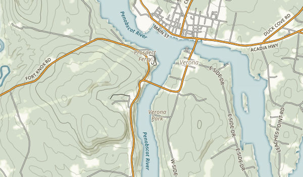 Penobscot Narrows Observatory Map
