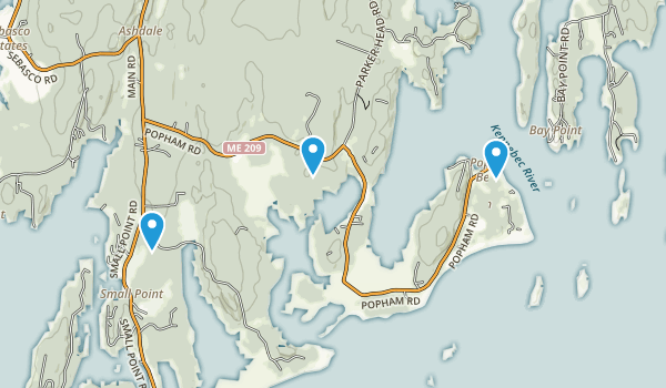 Popham Beach State Park Map
