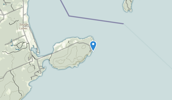 trail locations for Quoddy Head State Park