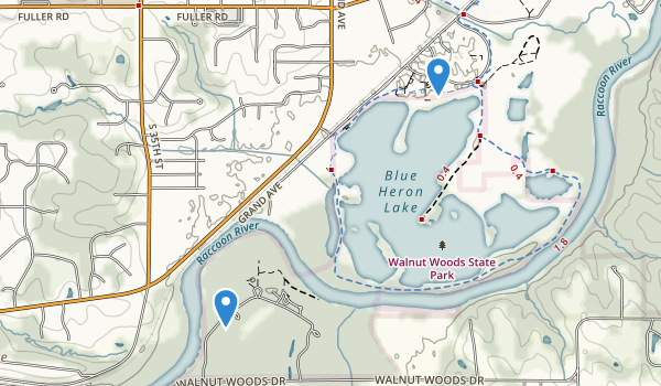 Walnut Woods State Park Map