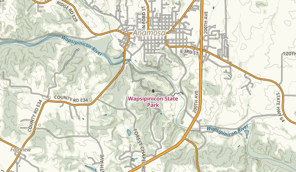 Wapsipinicon State Park Map