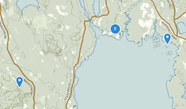 trail locations for Sebago Lake State Park