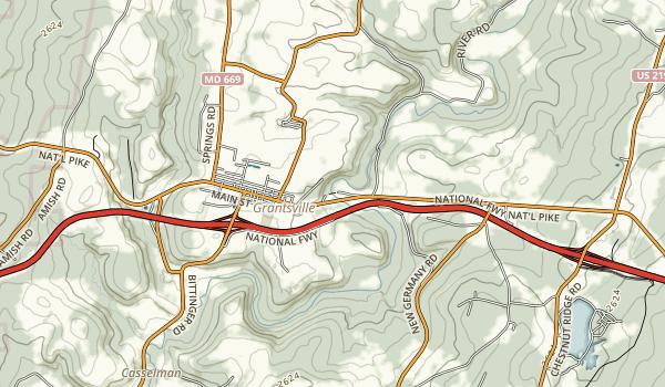 Casselman River Bridge State Park Map