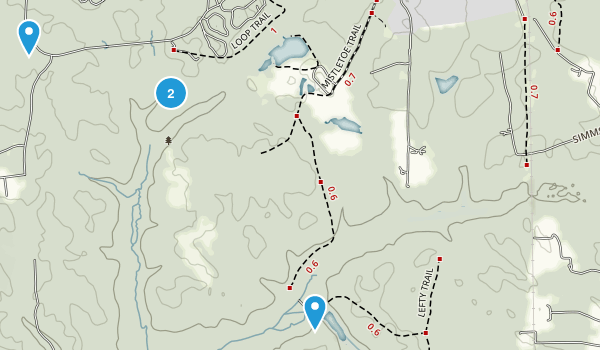 Cedarville State Forest Map