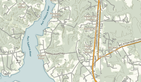 Chapel Point State Park Map