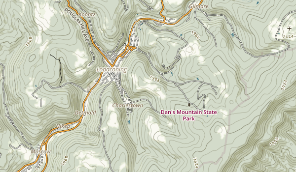 Dan's Mountain State Park Map