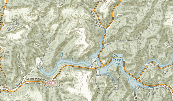 Carr Creek State Park Map