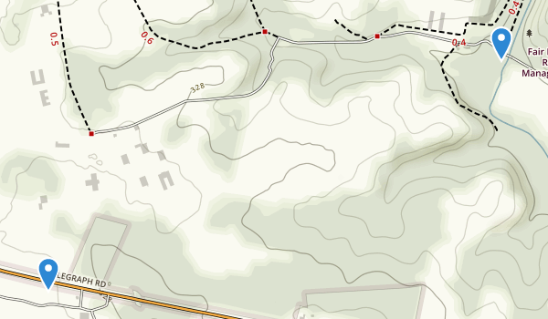 trail locations for Fair Hill Natural Resource Management Area