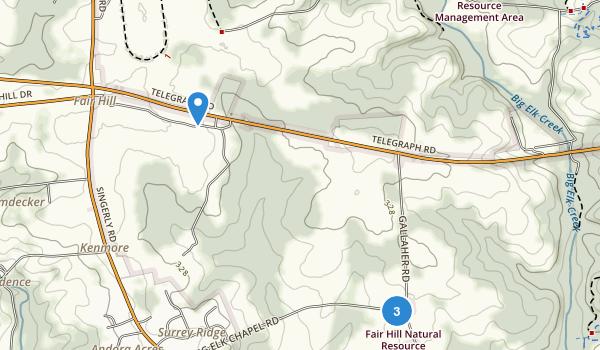 Fair Hill Natural Resource Management Area Map