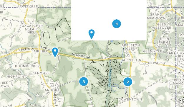 Área de gestión de recursos naturales de Fair Hill Map