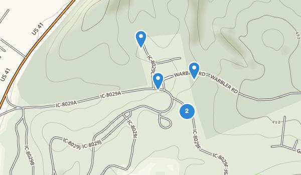 trail locations for John James Audubon State Park