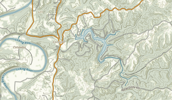 Kincaid Lake State Park Map