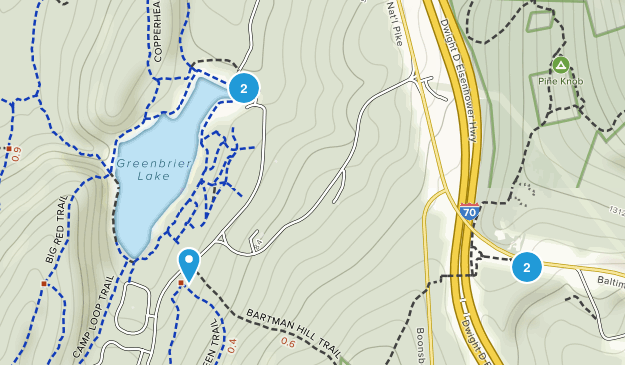 Greenbrier State Park Map
